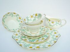 Art Deco Paragon Tea Set 9 Pieces Tea for Two by APureVintage, £100.00