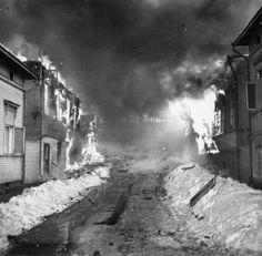 Tampere 1940 Kyttälä ja Tammela kärsivät pahimmat tuhot.Timo J. Mäkisen albumi