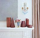 The Sconce, vase, and eindow panel are lovely. Suzanne Kasler