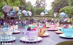 mad tea party at disneyland!