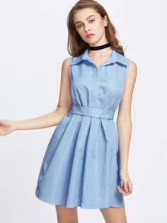 Shop Vertical Striped Bow Tie Back Shirt Dress online. SheIn offers Vertical Striped Bow Tie Back Shirt Dress & more to fit your fashionable needs.