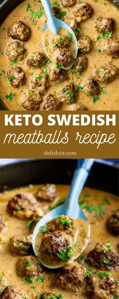 KETO SWEDISH MEATBALLS RECIPE Tuscan Garlic Chicken, Swedish Meatball Recipes, Cauliflower Mashed Potatoes, Pork Rinds, Food Blogs, Keto Dinner, Keto Snacks, Low Carb Recipes, Meal Planning