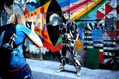 Artist turns people into paintings