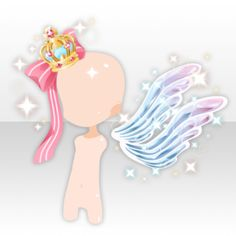(Head Accessories) Glass Angel's Wing & Ribbon on Crown ver.A blue.jpg