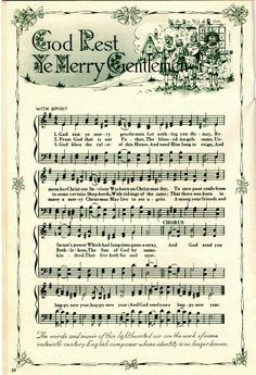 Beautiful God Rest Ye Merry Gentleman sheet music.