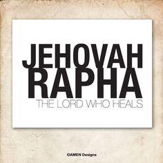 Jehovah Rapha. Names of God series.