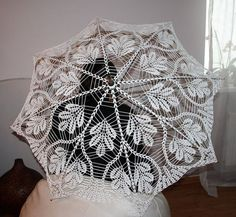 Style: Croched Umbrella, Size: ~48 (~122cm), Yarn: 100% wool, Colour: White, Quantity: 1 Umbrella, Made: Handmade Me :-),   Shiping worldwide via Priority: