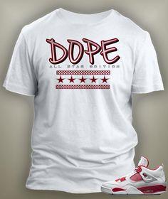 bc5b54a295d3 Dope Graphic T Shirt To Match Retro Air Jordan 4 Alternate Shoe Jordan 4