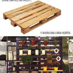 Pallets wall for porch