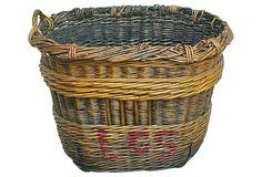 One Kings Lane - Rustic but Refined - Antique Grape Harvesting Basket