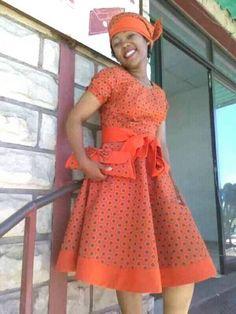 shweshwe patterns 2019 for African women - shweshwe ShweShwe 1 African Print Dresses, African Print Fashion, African Fashion Dresses, Africa Fashion, African Dress, African Prints, African Wedding Attire, African Attire, African Wear