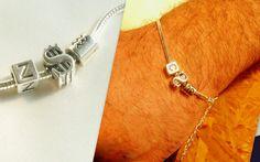 Mens+Silver+Lucky+$+Bracelet,+Initials+&+Zodiac+from+CamelysUnikatBijoux+by+DaWanda.com