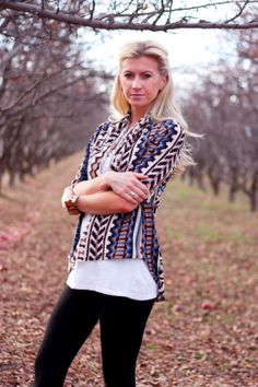 Tutorial:: Oversized Tribal Cardigan Made and Modeled by my beautiful daughter!