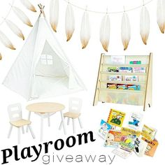 Next stop --------> @hellogalilea continue.  I have partnered up with some amazing Shops and Bloggers to bring you this amazing Playroom Giveaway! One lucky winner will WIN IT ALL!!! Play Teepee with everything pictured PLUS a $50 giftcard to Barnes & Noble!!! 1. Like this post. This is your entry. For an EXTRA entries like 3 additional photos on my page and comment DONE below  2. Follow us and all shops and bloggers in this loop. We will check!!! 3. Next stop --------> @hellogalilea…