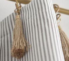 The Emily & Meritt Ticking Stripe Drape With Hook And Tassel #potterybarn
