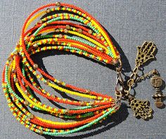 Holy Trinity Bracelet  African Jewelry  Ethnic by SANKOFAFREE, $30.00