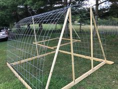 In July 2009 I built a movable poultry hoop house using 2 cattle panels for the roof and sides. Cattle Panels, Farming, Poultry, Hoop, Building, Backyard Chickens, Buildings, Frame, Construction