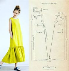 Tunic Sewing Patterns, Sewing Blouses, Dress Making Patterns, Clothing Patterns, Fashion Sewing, Diy Fashion, Medieval Dress Pattern, Couture Sewing, Diy Clothing