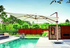Jardinico HORIZONTE vrijstaande zwevende aluminium parasols
