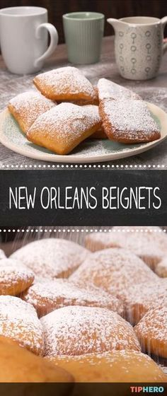 Beignets are the quintessential Big Easy treat, perfect for celebrating Mardi Gras or when you crave a sweet doughy bite of deliciousness. Make your own New Orleans-style beignets from scratch. Yummy Treats, Delicious Desserts, Sweet Treats, Dessert Recipes, Yummy Food, Homemade Desserts, Recipes Dinner, Tasty, Gourmet Desserts