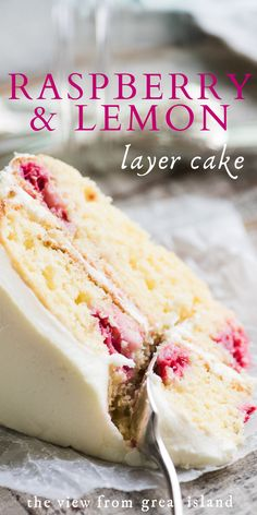 Easy Desserts, Delicious Desserts, Yummy Food, Yummy Dessert Recipes, Healthy Cake Recipes, No Cook Desserts, Raspberry Lemon Cakes, Lemon Layer Cakes, Cupcakes