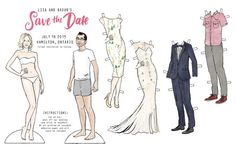 Custom Personalized Couple Paper Dolls by alicke on Etsy