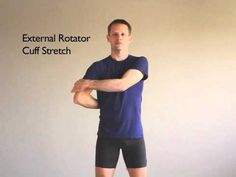 Shoulder Stretches - Especially helpful for those with Rotator Cuff problems. If you're experiencing pain in the front or back of the shoulder, or are having difficulty lifting your arms, this may be a problem for you. See a Sports Medicine doctor for a complete evaluation!