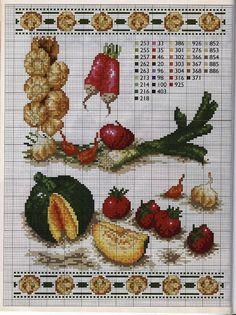 ♥Meus Gráficos De Ponto Cruz♥: Cozinha: Verduras e Legumes em Ponto Cruz