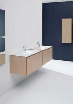 Minimalist Functional Bathroom Furniture - Flow and Soft from Cosmic