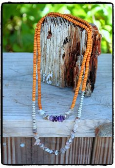 Botswana Agate and Amethyst with Bali Silver by ShortDogJewelry