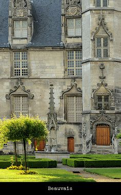 Chateau in Beauvais, Picardie, France  by Sigfrid Lopez