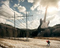 Electric Guitar -  Photo Manipulations by Erik Johansson | Bored Panda