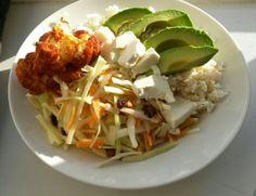 #dinner, #bbqcauliflower, #avocado, #cabbage, #healthy, #delicious, #yummi