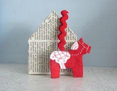Dala horse ornament tutorial