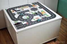 Kallax Ideen für das Kinderzimmer Klebefolien Stauraum mit Deckel www.limmaland.com