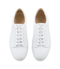 A.P.C. white women sneakers.  Minimalist casual woman shoes | Minimalist footwear | Minimalist shoes | Capsule wardrobe | Slow fashion | Simple style