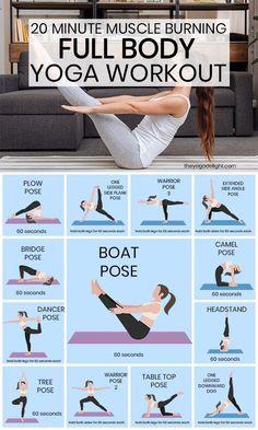 Fitness Workouts, Yoga Fitness, Fitness Workout For Women, Full Body Yoga Workout, Beginner Yoga Workout, Yoga Vinyasa, Hatha Yoga Poses, Ashtanga Yoga, Yoga Training