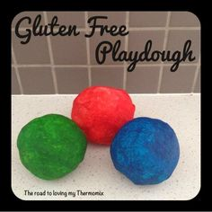 When making playdough as gifts it's often a good idea to make a gluten free version in case of allergies.