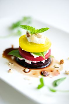 Beet Stacks with Orange Balsamic Reduction