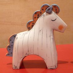 Colorful Miniature Ceramic Pony Choi Soo-Jung