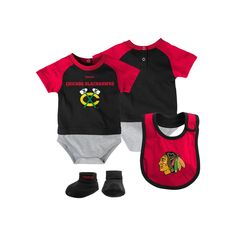 Clothing, Shoes & Accessories Smart Nhl Chicago Blackhawks Bodysuit Romper Jumpsuit Outfits 3 Piece Set Newborn Kids