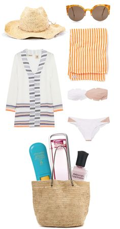 Beach Bag Essentials...love the beach towel!