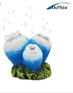 fish tank aquarium decoration resin Ornament-air pump/stone-bubble,blue coral