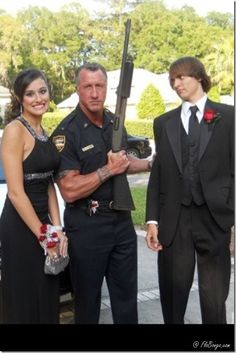 Dad cop vs prom date... This will 100% be Matt lmao