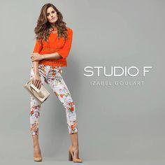 Flores, naturaleza, vida y elegancia en un #LookStudioF #Summer2015 #StudioFCaracas Referencia: Blusa S151259 Pantalón S025598 Calzado S360077