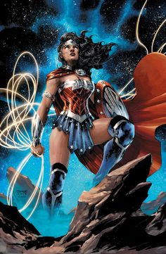 Wonder Woman by Jim Lee, colours by Jeremy Colwell *