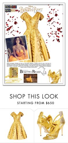 """""""Disney's 'Beauty and the Beast'"""" by emcf3548 ❤ liked on Polyvore featuring Giuseppe Zanotti, Whiteley, Disney, BeautyandtheBeast and contestentry"""