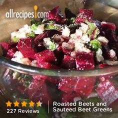 Roasted Beets and Sauteed Beet Greens from Allrecipes.com #myplate #veggies