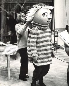 Tove Jansson in 1973 filming the Moomin series. Tove Jansson, Gaudi, Picasso, Best Costume Ever, Moomin Valley, Fuzzy Felt, Ordinary Lives, Museum Exhibition, Big Love