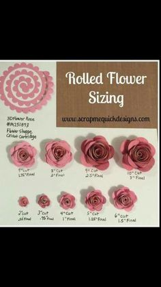 Rolled flower sizing